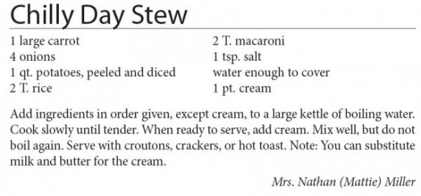 Chilly Day Stew - Authentic Amish Cookbook