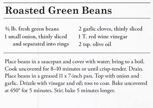 Roasted Green Beans Recipe - Amish Family Cookbook